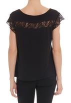 edit - Lace T-shirt in black