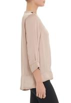 edit - Blouse with trim in gold