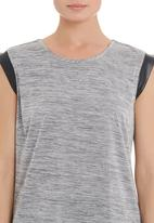 edge - Tunic with trim in grey