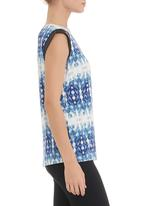 edge - Tunic with trim in blue