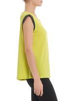 edge - Tunic with trim in yellow