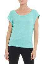 edge - Slub knit T-shirt in aqua
