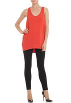 edit - Drapey vest in coral