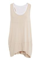 edit - Drapey vest in neutral