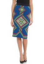 TART - High-waisted pencil skirt in multi-colour