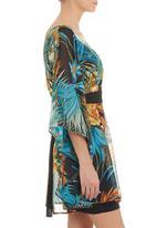 Urban Rose - Printed kaftan tunic in multi-colour