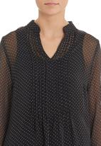 G Couture - Spotted pleated tunic