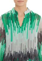 G Couture - Graphic printed pleated tunic