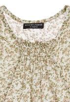 Sticky Fudge - Floral top with ruche detail