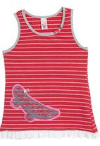 Eco Punk - Coral T-shirt with stripes