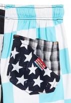 Eco Punk - Blue striped shorts