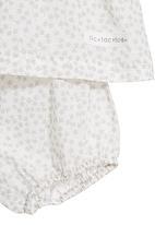 Tic Tac Toe - Maple printed onesie set in silver