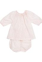 Tic Tac Toe - Maple printed onesie set in pink