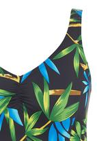 Sun Things - Black one-piece with bamboo print