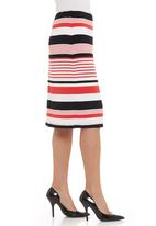 Gordon Smith - stripe jersey skirt