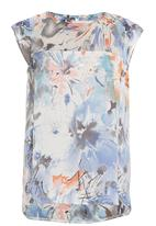 Yes - Printed sleeveless blouse in blue
