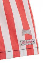 Eco Punk - Shorts with coral stripes