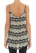 CRAVE - Strappy top with aztec print