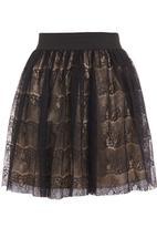 Mishah - Lace skater skirt Black