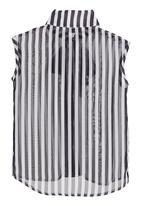 Pringle of Scotland - Monochrome striped blouse
