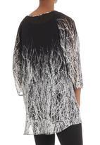 Cheryl Arthur - Tunic with tree print Black/White