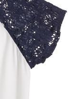 Sam & Seb - Lace T-shirt Blue(mid blue)