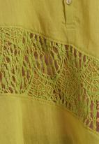 RVCA - Arrowic woven cami Light green