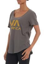 RVCA - VA ball point pigment scoop tee