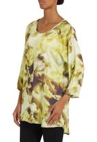Cheryl Arthur - Tunic with lemon print Yellow