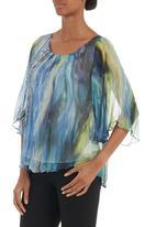 Jenja - Silk blend watercolour blouse Multi-colour