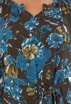 Jenja - Floral blouse with belt Multi-colour