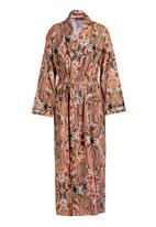 Daddy and Fox - Printed dressing gown Brown/Black