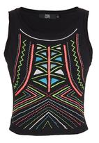 Traffic - Embroidered crop top