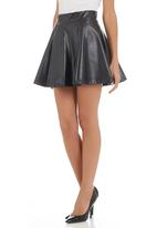 STYLE REPUBLIC - Pleather skater skirt