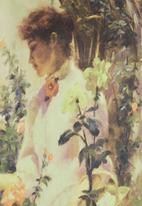 Cheryl Arthur - Orangerie blouse Mid green