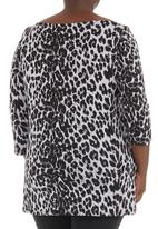 Megalo - Boat-neck top Animal Print