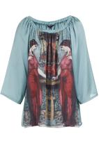 Cheryl Arthur - Goddess printed blouse Multi-colour