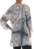 Cheryl Arthur - Scarf-print tunic Multi-colour