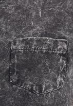 BellField - Acid-wash T-shirt Dark grey