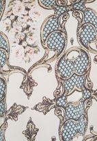 Cheryl Arthur - Paisley-print top with knit back Light Green