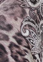 Cheryl Arthur - Animal-print kaftan Dark Grey