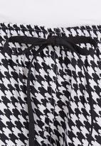 Daddy and Fox - Fox tooth print pyjama set Black/White