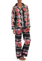 Daddy and Fox - Floral pyjama set Black