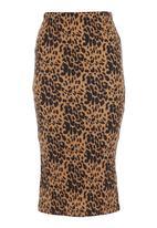 STYLE REPUBLIC - High-waisted pencil skirt Animal Print