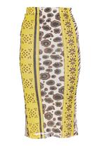 STYLE REPUBLIC - High-waisted pencil skirt Yellow