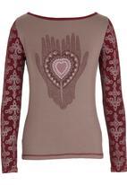 OLKA POLKA - Henna print T-shirt