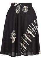 Amanda May - Ethnic-printed bias skirt