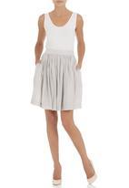 LO - Midi skirt Silver