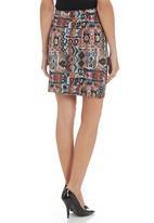 Carly Tod - Aztec-print scuba skirt Multi-colour