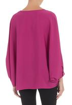 edit - Silk cape shirt Purple